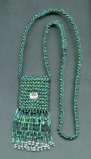 Green amulet pouch